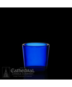 10 Hour size Blue Votive Glasses