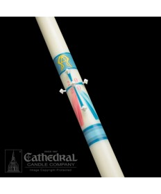 Classic Divine Mercy Paschal by Cathedral Candle Co