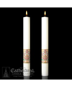 Classic Investiture Paschal Complementing Altar Candles