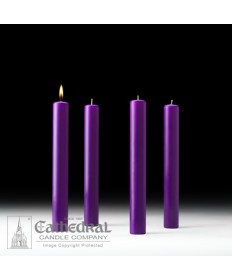 "Advent 51% Beeswax Church Candle Set 1.5"" x 12"" - 4 Purple"