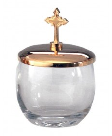 Ablution Cup / Ash Pyx with Gold Lid