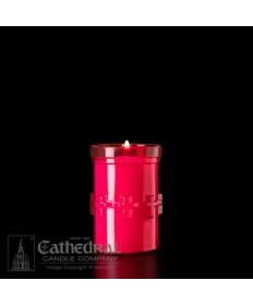 3 Day Candles in Unbreakable Plastic Containers - Ruby