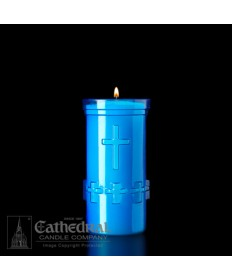 5 Day Candles in Unbreakable Plastic Containers - Blue