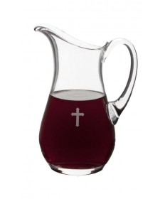 Flagon with Etched Cross by Alviti Creations (50 oz)
