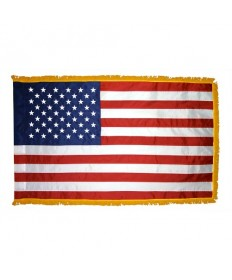Colonial Nyl-Glo Indoor Fringed US Flag