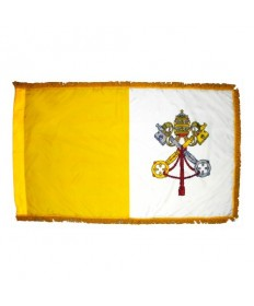 Colonial Nyl-Glo Indoor Fringed Papal Flag