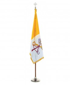Colonial Nyl-Glo Mounted Set with Papal Flag