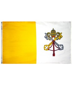 Nyl-Glo Papal Flag for Outdoor Display