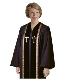 RT Wesley Pulpit Robe H-93 in Black by Murphy Robes