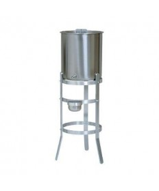 Holy Water Tank with Cover and Spigot on Aluminum Stand