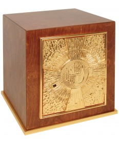 Wood Tabernacle with Gold Plate Door