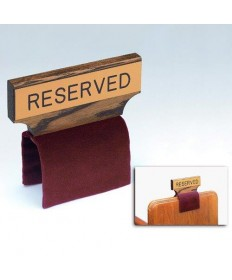 Pew Reservation Sign with Fabric Covered Clamp