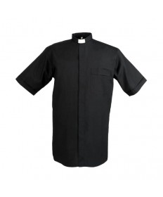 ∗SALE∗ Clergy Shirt by Reliant Black - Tab Collar Short Sleeve