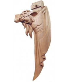 Hand Carved Contemporary Crucifix 12""